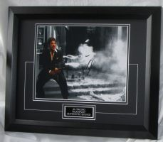"A1 APS  AL PACINO - ""SCARFACE"" SIGNED AFTAL DEALER #199 With sign details"